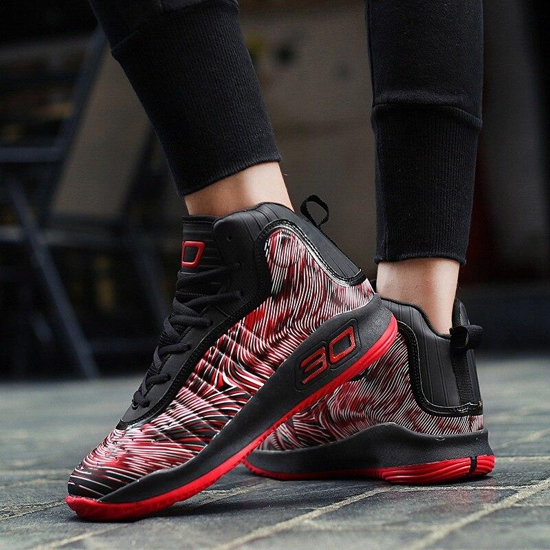 Masculinos vermelho Armazém Alta Sapatos absorvente Esportivos Combate oposição Desgastar Azul Calçados assorted Inverno Basquete Botas De top E Choque Tênis qn7U8
