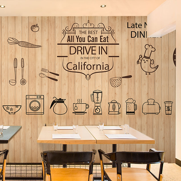 Photo wallpaper food mural baked bread shop tea shop cake shop cafe restaurant leisure bar decoration retro wood wallpaper mural avail american baked cake flavor e liquid