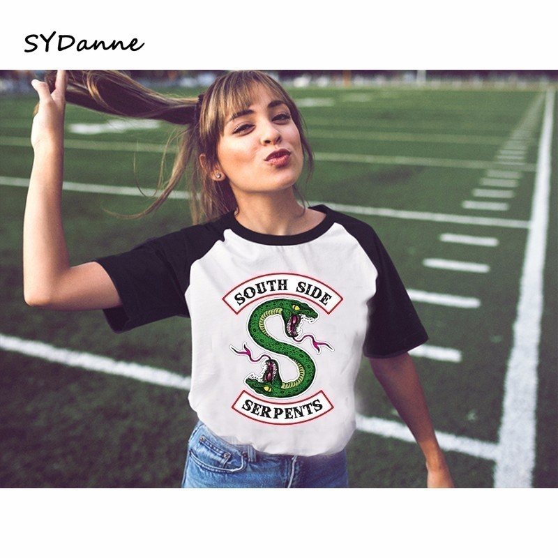 SYDanne 27 Kind Of Riverdale T-shirt Women Summer Tops SouthSide Serpents Jughead Female Clothing South Side t-shirt For Girls