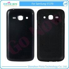 FLPORIA cubierta de La Cubierta Original Para Samsung Galaxy Ace S7270 3 marco Embellecedor Frontal + Contraportada de La Batería negro