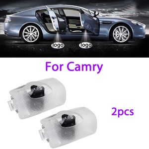 2pcs led door logo light For Toyota Camry 2006-2012 New 2018 Toyota Logo Laser Projector Light Ghost Shadow Light Accessories(China)