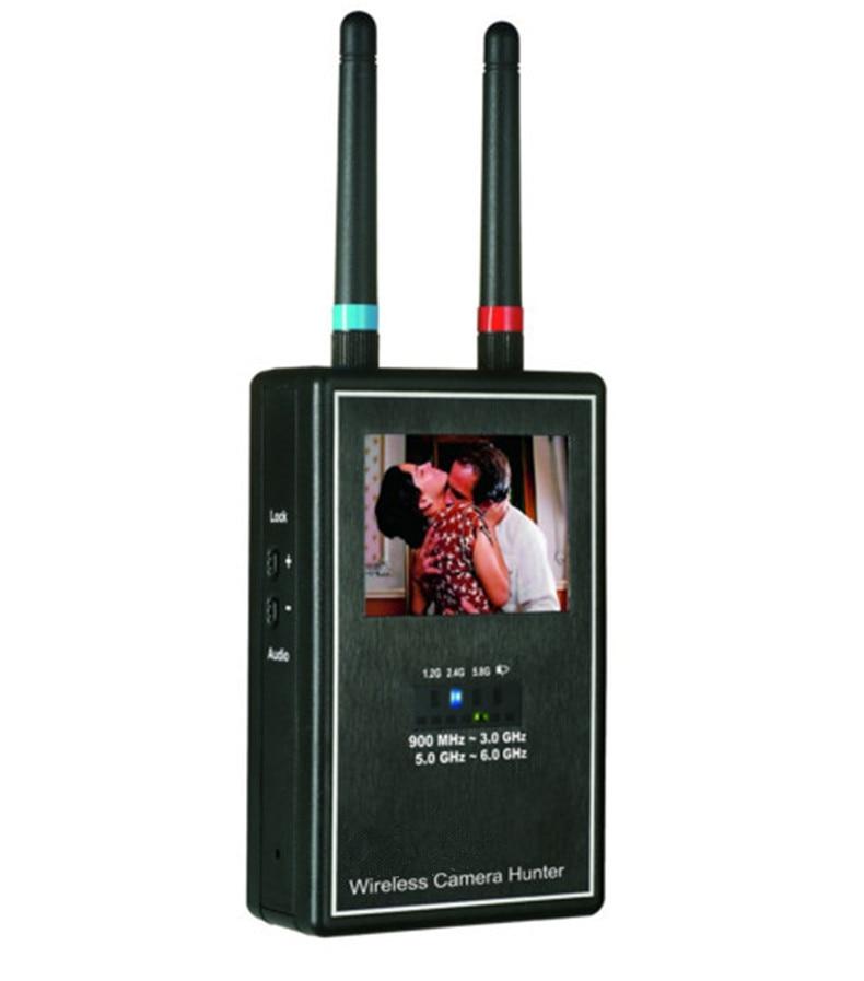 Mini Wireless Camera Hunter Full Band Video Scanner Image Display Multi Wireless Camera Lens Detector Full-range Anti-Candid sdr cc 309 full band detector detection camera