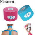 9 Colour Kinesio Tape Muscle Bandage 5cm x 5m Sports Kinesiology Tape Roll Cotton Elastic Adhesive Strain Injury Muscle Sticker