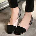 European street casual style personality square toe loafers comfortable color matching slip pink red black flat women's shoes