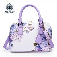 Printed Luxury Leather Shell Package 2017 New Women Handbag Famous Brands Designer Shoulder Messenger Bag