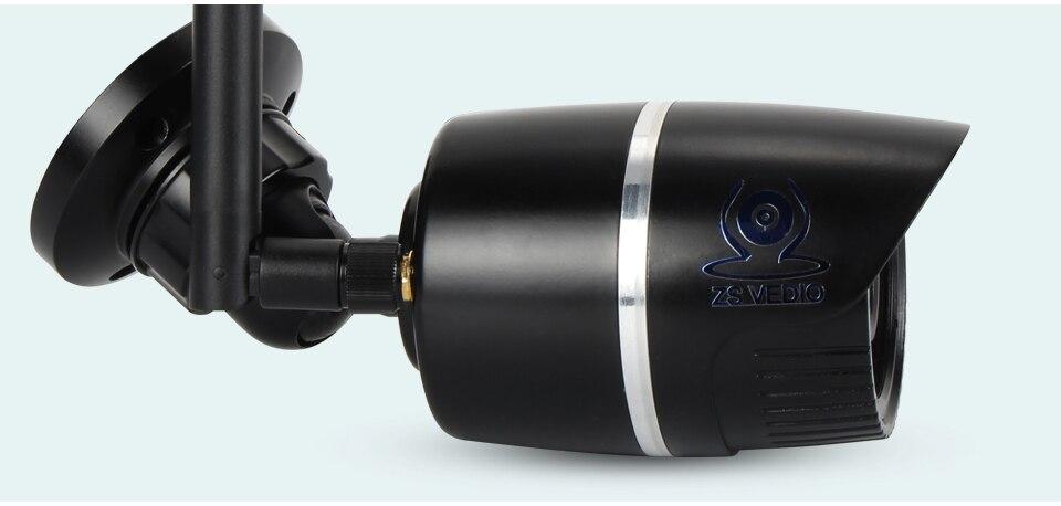 ZSVEDIO Surveillance Cameras IP Camera OnVif IP Cameras Wi Fi IP66 Outside Wireless 1080P HD 2MP Black 2.8mm Camera CCTV (17)