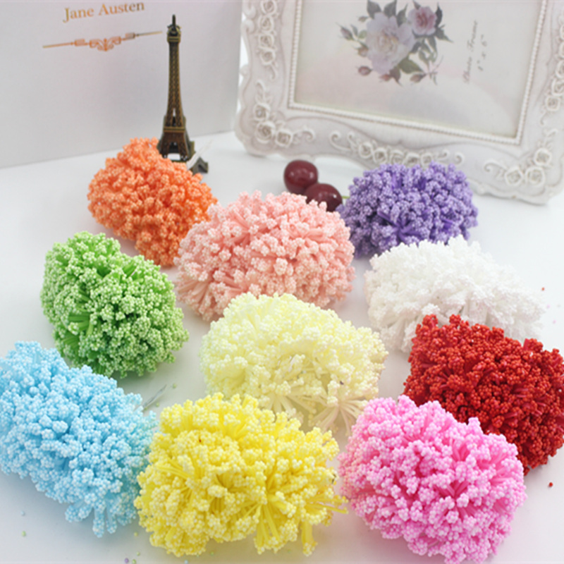 12pcs Foam Baby's breath Artificial Flower For Wedding Home Party Decoration DIY Scrapbooking Decorative Wreath Fake Flower