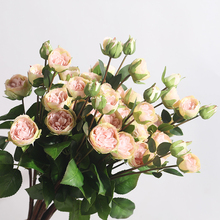 Get more info on the Xuanxiaotong 5Head Pink Roses with Bud Flowers Home Decor for Fall Bridal Wedding Flower Branches Flower Arrangement Decoration