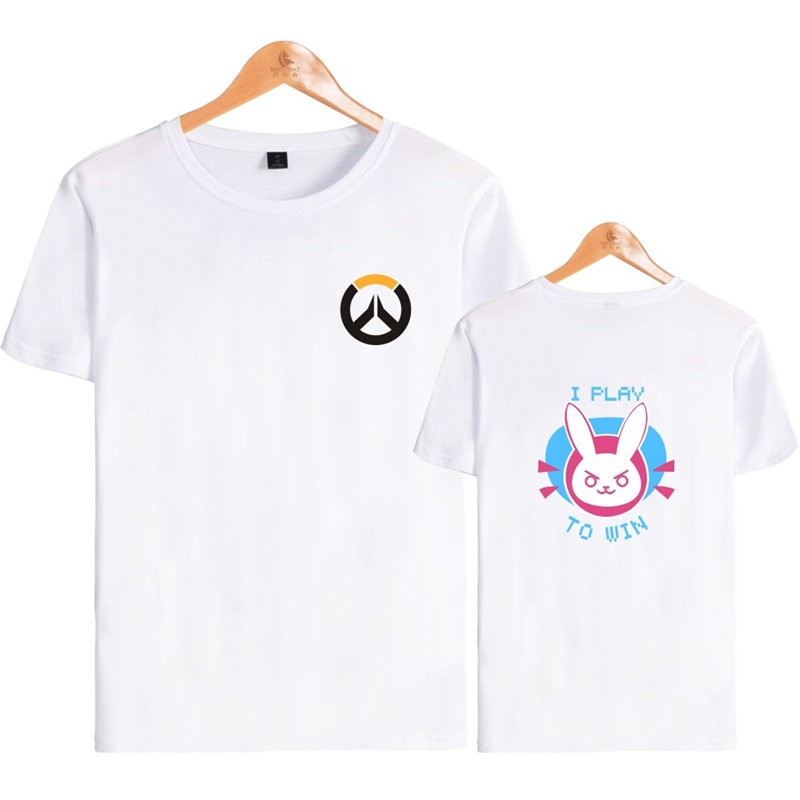 Anime Game Overwatch 3D Printed T-Shirt OW D.VA Cosplay Summer Top  Casual Short Sleeve Lover Gift 3