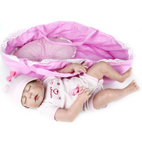 NPKDOLL toys for girls dolls 22inch whole Silicone Doll Reborn 55cm all Vinyl Reborn sleeping Dolls baby toys Toys for children
