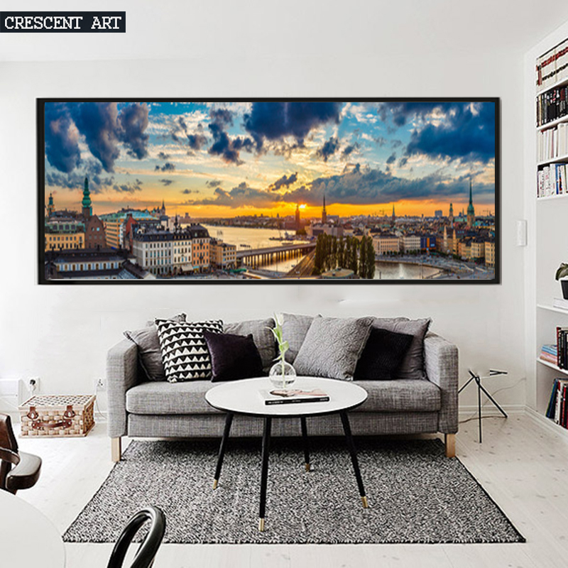 Us 668 European Cityscape Wall Poster Stockholm Picture Canvas Print Hd Scenery Landscape Photo Art Large Home Decor For Livingroom In Painting