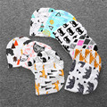 3 unids/lote 20 Colores Del Algodón Del Bebé Sombreros Luvable Amigos Rosa/Azul Estrella de la Historieta Impresa Bebé Sombreros y Gorras para Accesorios Para Bebé recién nacido
