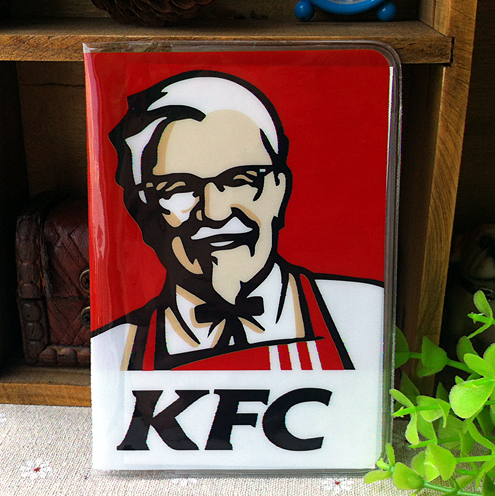 kfc logo - KFC logo passport holder Passport PVC jacket a short paragraph brand sets of documents - to travel abroad to study