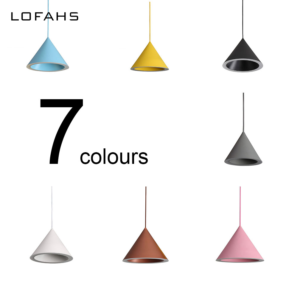 LOFAHS Modern LED Pendant Lights Lamp Restaurant dining lamp 7 colors Cone Suspension Luminaire Home Living Room Bedroom 8601 chinese style classical wooden sheepskin pendant light living room lights bedroom lamp restaurant lamp restaurant lights