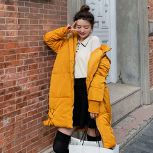 new Fashion women 2019 New Arrival Solid Slim Long Size For Womens Cotton Down Parka With Hooded Winter Jacket
