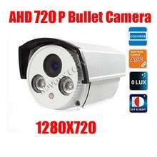 free shipping HD Surveillance 2000TVL Bullet CCTV Camera 1MP AHD Camera 720P Security IR 40M Nightvision Work For AHD DVR