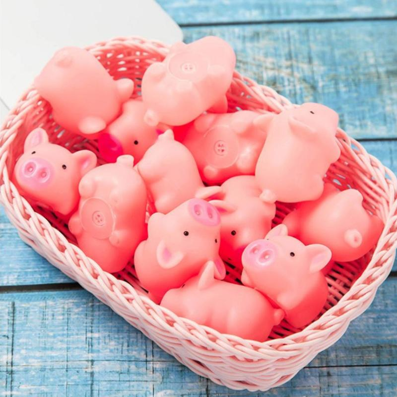 Pink Cartoon Squishy Pig Anti-stress Toy Piggy Sounding Stress Relief Toys Silicone Squeeze Toys Kids Gift Baby Funny Toy Gifts
