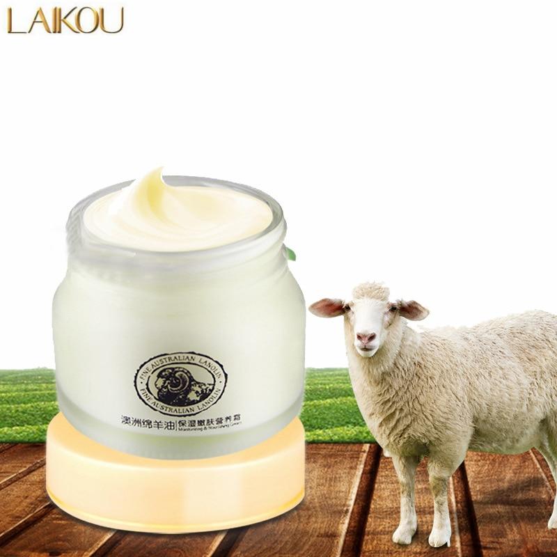 LAIKOU Lanolin Cream Sheep Placenta Cream Contains Hyaluronic acid Aloe Vera Lanolin Curacao Sheep Day Cream Skin Care Product