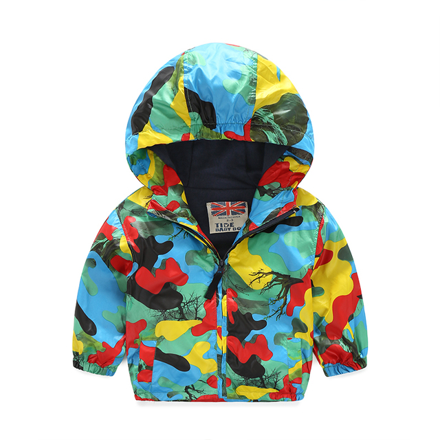Boy kids jackets camouflage outdoor jacket fashion hooded zipper outerwear baby boys sports jacket spring and autumn
