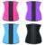 10 unids Dama corsé faja de Cintura Trainer Corsé 100% de Látex de Látex Corsé Mujeres Sexy Latex Reductora Fajas