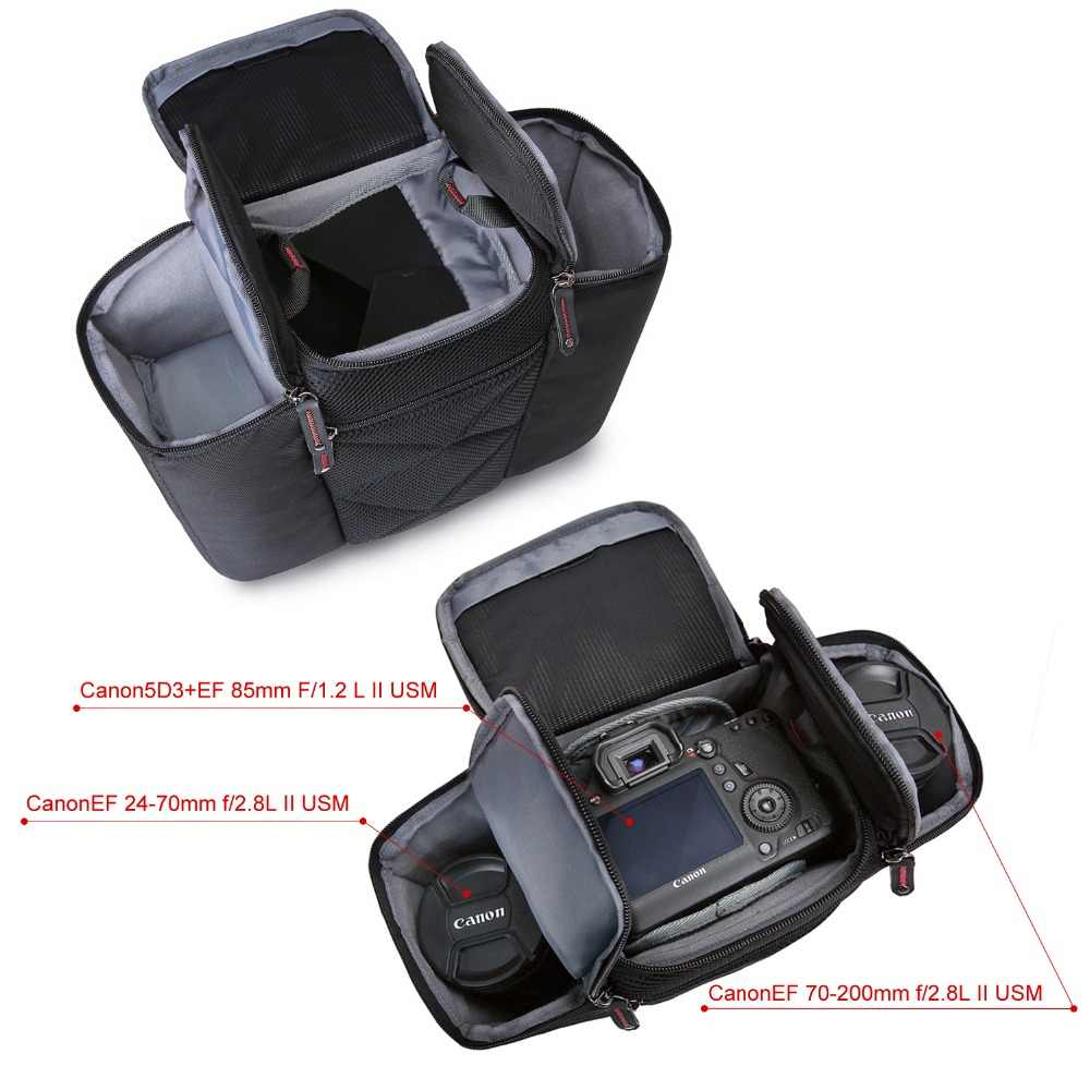 BAGSMART Unissex Marca À Prova D' Água Câmera DSLR Foto Saco Saco do Mensageiro Do Ombro Do Vintage Bolsas De Camara para Canon Sony Nikon Instax