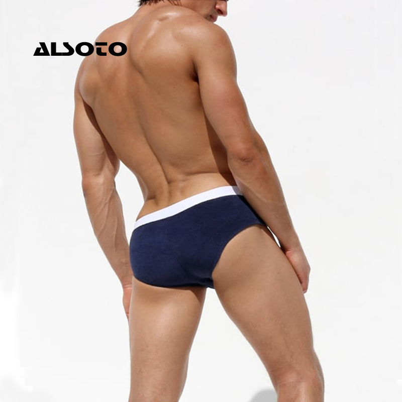 ALSOTO Swimwear Men Sexy Swimsuit Maillot De Bain Men Swim Shorts Briefs Beach Shorts Swimming Trunks Zwembroek Heren Mayo