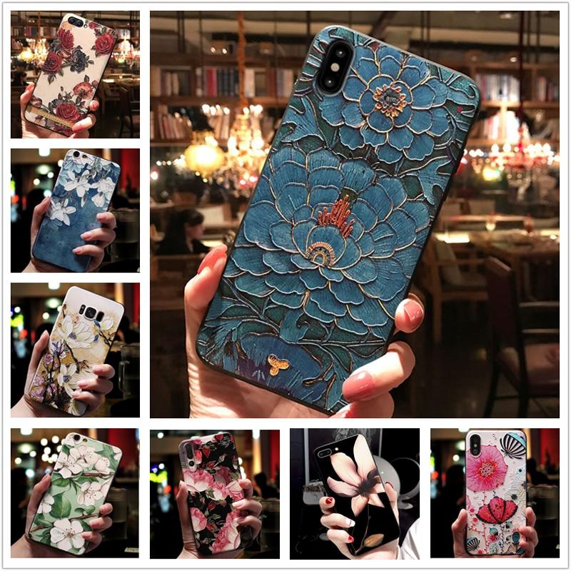 Pour HTC U11 U 11 Cas 3D Fleur En Relief Couverture Souple En Silicone pour HTC Desire 12s Desire12s Téléphone coques pour HTC U12 vie U 12 U12Lite