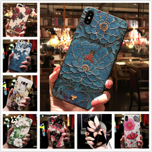 for HTC U11 U 11 Case 3D Flower Emboss Soft Silicon Cover fo