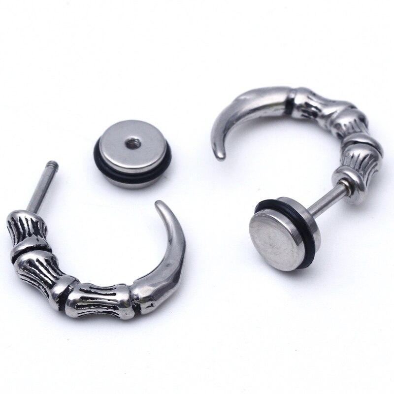 2pcs Stainless Steel Earring Studs Mens Girl Boy Earrings