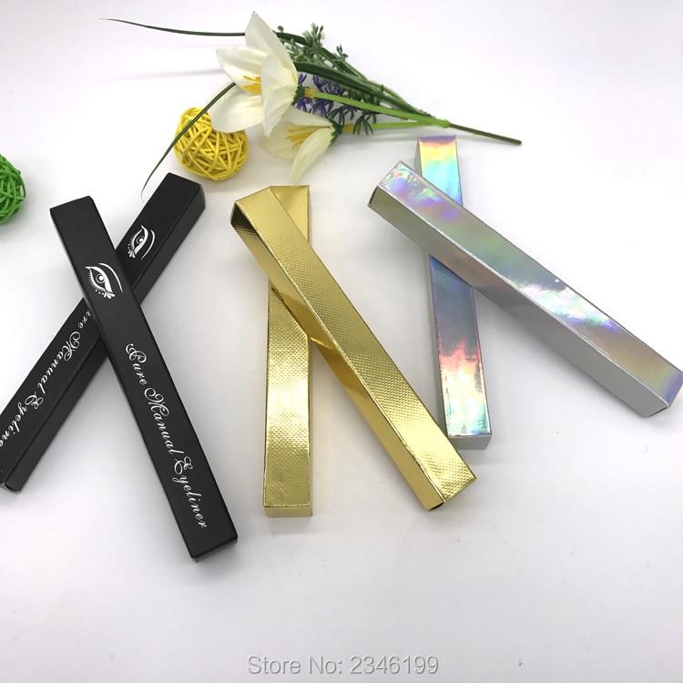 100pcs/lot Empty Packing Box Of Eyeliner Tube, Gold/Silver DIY High-end Eyeliner Packing Box