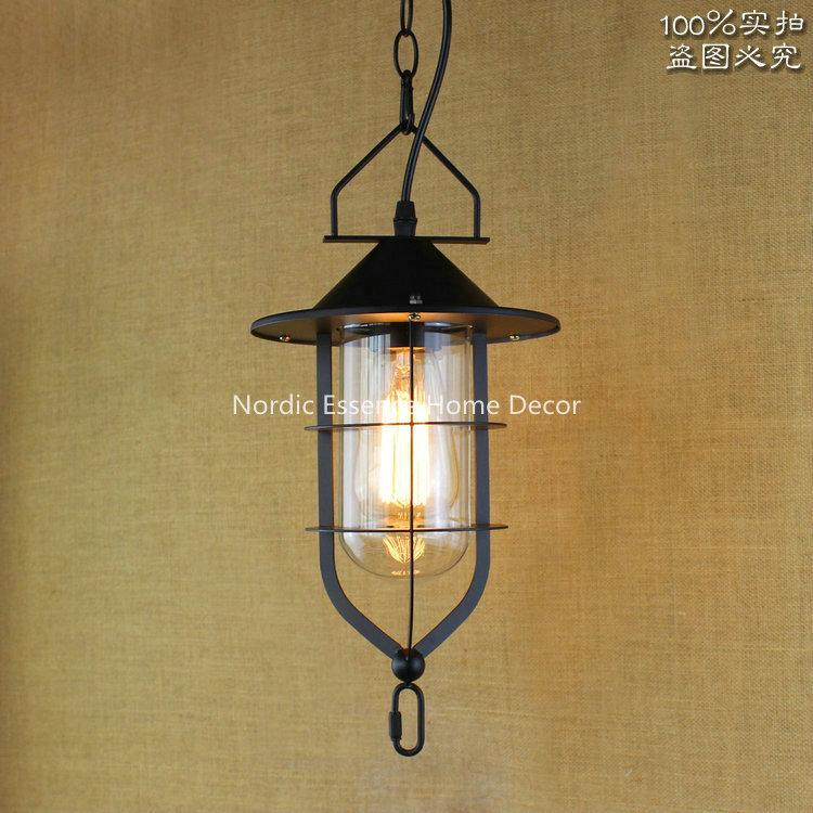 ФОТО American retro rural countryside lighting aisle warehouse Funakura Bar Restaurant Hotel Light Chandelier,home decorations lamp