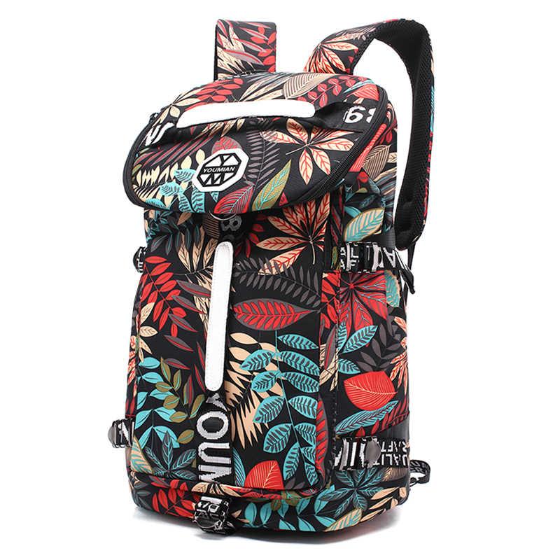 YOUMIAN קיבולת גדולה נסיעות תרמיל נשי כתף תיק ספורט כושר בד תיק אור טיולים נסיעות מזוודות