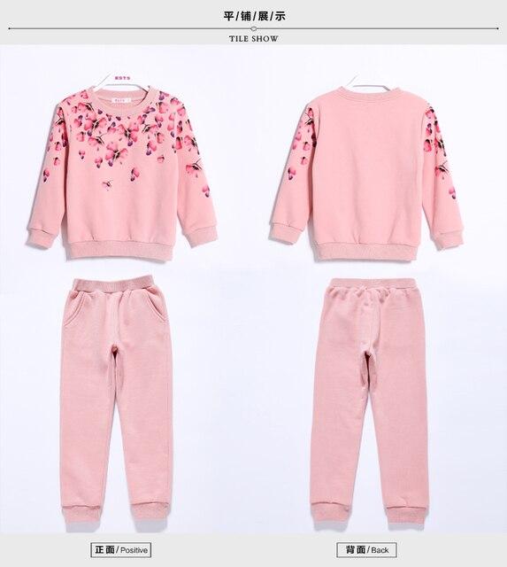 V-TREE Printemps automne filles vêtements set floral enfants costume ensemble occasionnel deux pièces de costume de sport pour fille survêtement enfants vêtements 3