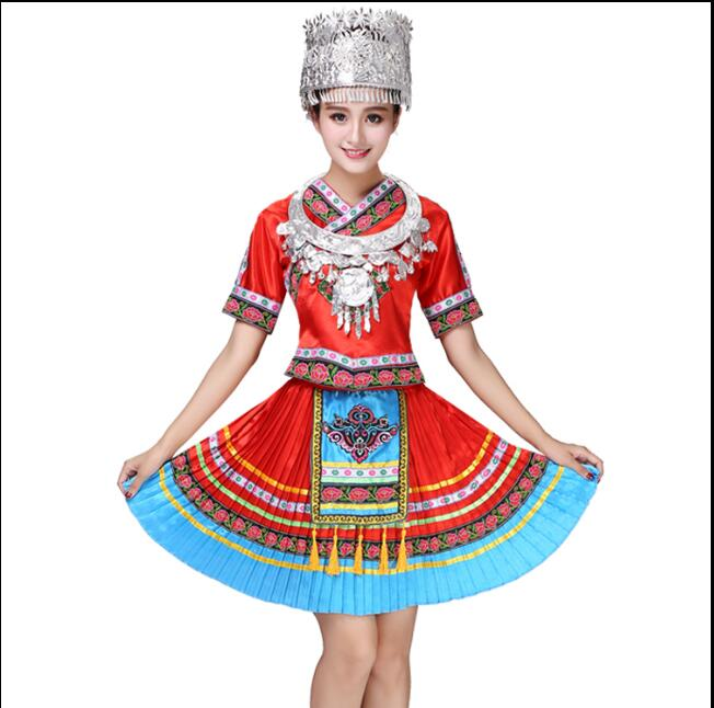 2017 Woman Miao Costumes Minority Stage Costumes For Singers