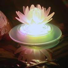 HobbyLane LED 7Colors Water Lily  Solar-Powered Floating Lamp Swimming Pool Fountain Decorative Lights