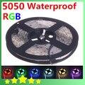 5050 Waterproof  RGB LED Strip Light 300 led/m Flexible LED Ribbon 5M LED Tape  High Quality Free Shipping