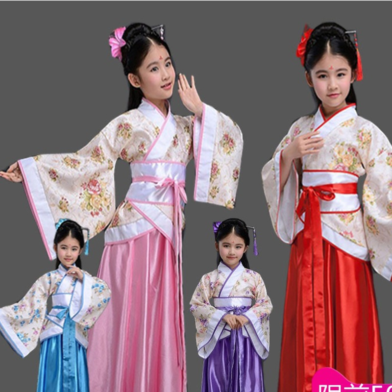 traditional Ancient chinese folk dance costumes girls children classical kids child tang dynasty costume hanfu clothing dress