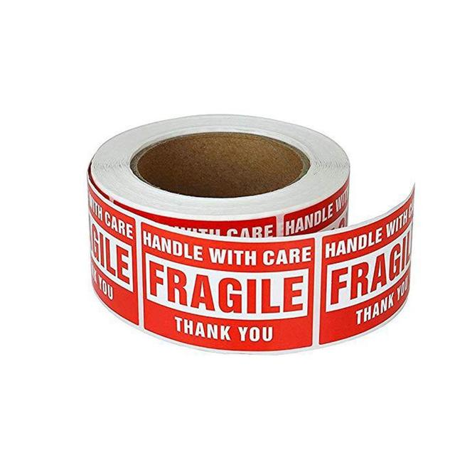 Selbst Klebe Papier Zerbrechlich Brief Aufkleber 500 Pcsroll Paket Braun Porto Etiketten Hause Shop Etc Mode