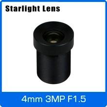 Звёздные 3MP 4 мм фиксированная скорость F1.5 для SONY IMX290/291/307/327 низкой освещенности CCTV AHD камера IP камера с бесплатной доставкой