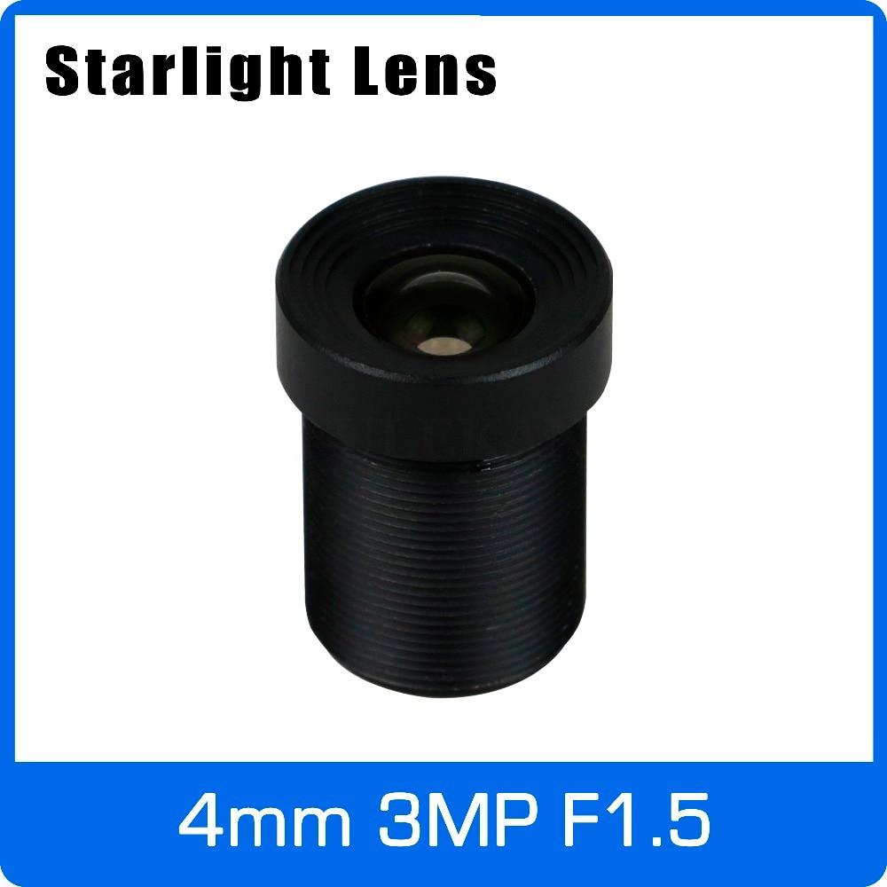 Sternenlicht Objektiv 3MP 4mm Feste Blende F1.5 Für SONY IMX290/291/307/327 Niedrigen Licht CCTV AHD Kamera IP Kamera Freies Verschiffen