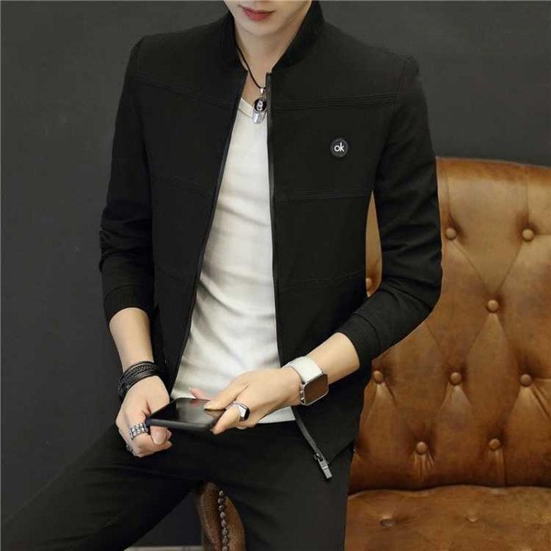 Men 'S Casual Premium Varsity Baseball Jacket College Style Letterman Sweater Coat Male Jacket 2019 Spring New Style Korean-Styl 18