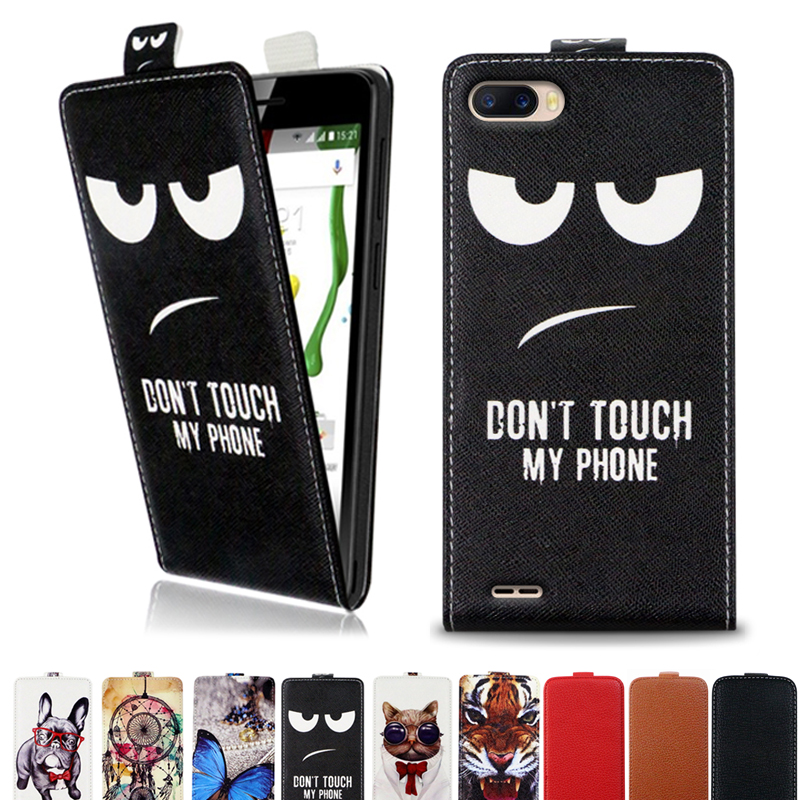 For <font><b>Ulefone</b></font> <font><b>S1</b></font> <font><b>Case</b></font> Printed cool cartoon butterfly Tiger owl flip up and down leather <font><b>case</b></font> cover image