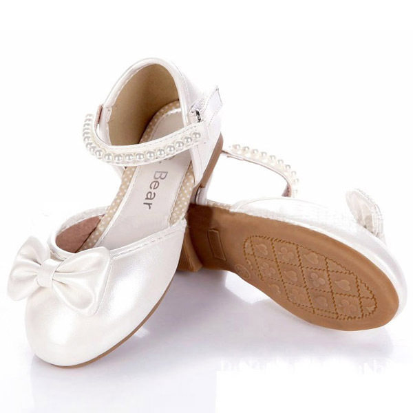 14ee7cee3b21 Brand Girls Flat Dance White Shoes