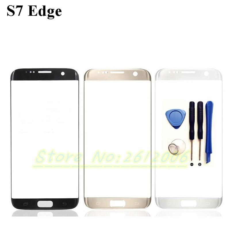 imágenes para 5.5 ''Panel Táctil De Cristal Frontal Para Samsung Galaxy S7 Borde G935F G9350 Original Frontal Exterior de la Cubierta de Lente de Cristal Táctil pantalla