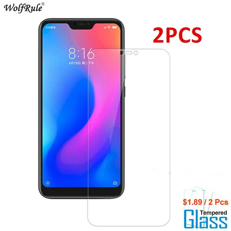 2PCS For Glass Xiaomi Mi A2 Lite Screen Protector Tempered Glass For Xiaomi Mi A2 Lite Glass Redmi Note 6 Pro Phone Film