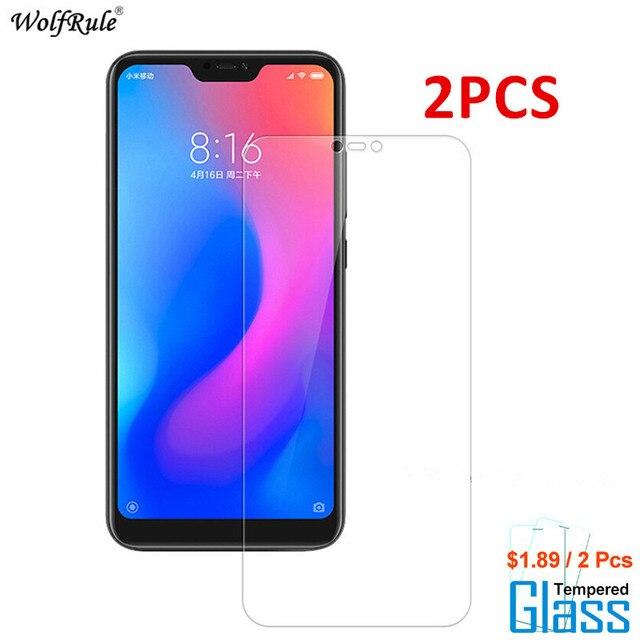 2PCS For Glass Xiaomi Mi A2 Lite Screen Protector Tempered Glass For Xiaomi Mi A2 Lite Glass Protective Phone Film