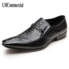 New mens leather shoes business casual  and autumn Genuine Leather Shoes Men,Lace-Up Men Dress