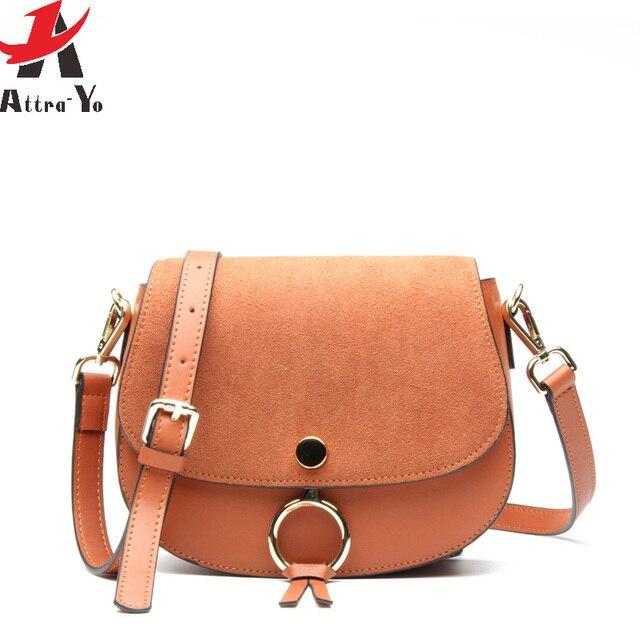 c457b615c88 Atrra-Yo CrossBody Bag genuine leather Messenger Bags Saddle Luxury Handbag  Brands Women's Shoulder Bag High Quality Bolsas