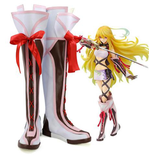 Tales of Xillia Milla Maxwell Cosplay Boots Shoes Party Cosplay Show Boots Custom Made for Adult Women Shoes