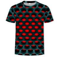 2019 nuevo hombre Camiseta casual de manga corta cuello redondo de moda divertido impreso camiseta de hombre efecto 3D/Mujer Camisetas Camiseta de marca de alta calidad hombre